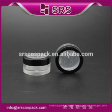 SRS free sample clear cosmetic plastic mini 5g loose powder container , cosmetic jar clear
