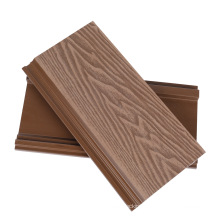 3D Wood Facade Embossing Plank WPC Outdoor Cladding Wall Panel Composite Luxury Exterior House Decoration Cladding Material