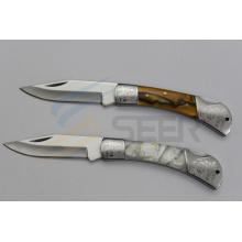 """7 """"faca de bolso da alça da resina (SE-126)"""
