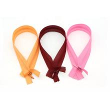 Factory Colorful 3# nylon lace tape C/E A/L invisible zipper for garment