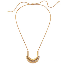 Longitud ajustable aleación aleación de retro mujer colgante, collar