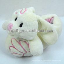 zapatos interiores de felpa suave orejas largas de conejo