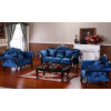 Sofá de madeira da tela para a mobília da sala de visitas ajustada (D987B)