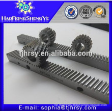 Helical tooth gear rack