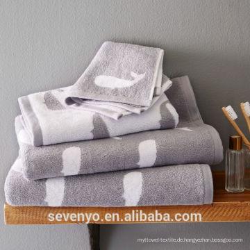 Baumwolljacquard-Tuch 100% Baumwolle stellt Großhandel HTS-011 China-Lieferanten ein