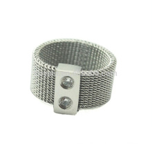 Made In China Mulheres Meninas De Aço Inoxidável Finger Ring Com Cristais