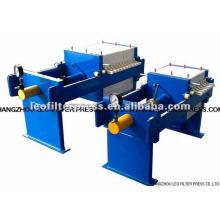 Hydraulische manuelle Kammerfilterpresse mit kleiner Kapazität von Leo Filter Press