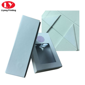 White Magnetic Cardboard Gift Box Tudung Window