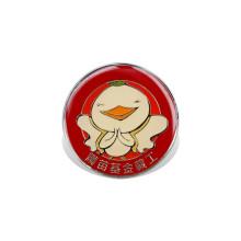 Insignia impresa del logotipo del desplome, Pin de encargo de la solapa (GZHY-YS-001)