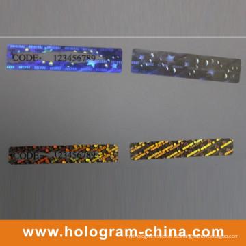 Hologramm-Aufkleber des kundenspezifischen Hologramms weg vom Aufkleber