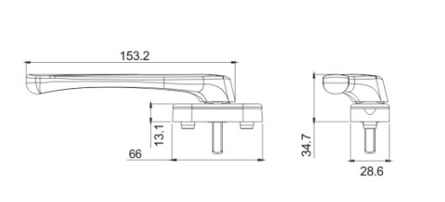 aluminium alloy side hung window door sliding door handle drawing drawing 2