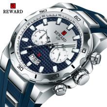 REWARD 83008M Chronograph Watch Quartz Men Watch Military Sports Watches Rubber Strap Relogio Masculino
