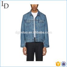 Novo estilo algodão casaco homens Slim Jeans Jacket