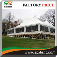 wind resistant Tension party pole canopy 60'x60' with Clear walls