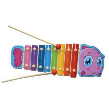 Juguete de madera de juguete xilófono de pescado (81941-3)
