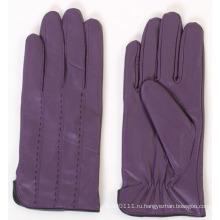 Женская мода овчины кожаные перчатки для вождения (YKY5165)