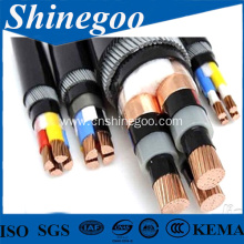 fine steel wire armoured PE electrical cable