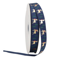 PS910 personalized printed Christmas ribbon customized with your text for gift wrapping