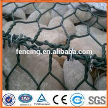 mur de roche de cage de fil de boîte de Gabion enduit par PVC