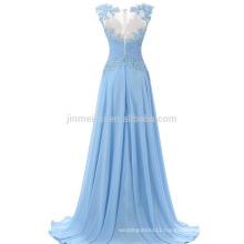 Abendkleider Vestidos De Fiesta Robe De Soiree 2016 Appliqued Beaded Chiffon long Evening gowns A-line Prom Dress