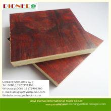 Precio bajo One Time Molding Red Film Faced Plywood