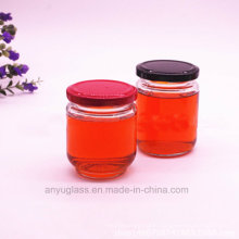195ml 240ml Poubelle ronde en poulet, bouteilles en verre pour miel, nourriture, miel d'abeille