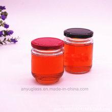 195ml 240ml rodada de conserva de vidro de jarros, garrafas de vidro para o mel, alimentos, mel de abelha