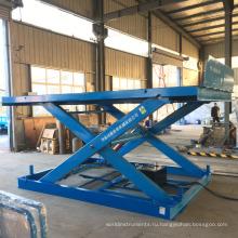 стационарный склад грузовой гидравлический ножничный подъемник подъемник