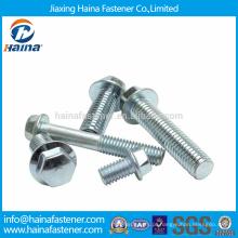 Aço em aço JIS B 1198 parafusos de flange hexagonal revestidos de zinco