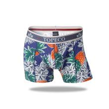 OEM diseño personalizado de alta calidad de impresión reactiva boxeador cuatro calzoncillos esquina ropa interior de los pantalones