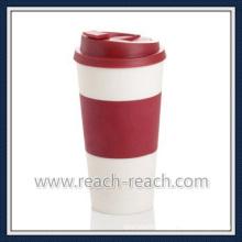 Double Wall PP Plastic Coffee Travel Mug