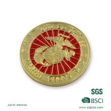 3D-Logo-Gold überzogene weiche Emaille-Andenken-Münze für Förderungs-Geschenk