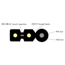 Câble à goutte à fibres optiques autoportant