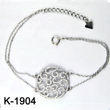 Micro Pave CZ 925 Серебряный браслет из бижутерии (K-1904. JPG)