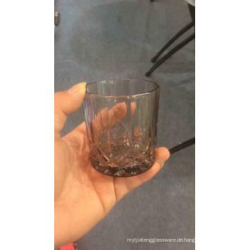 Glas Cup mit Farbe Spray Bier Cup Tumbler Kb-Hn06898