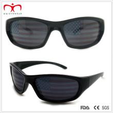 Lunettes de soleil de sport promotionnelles pour hommes avec design de drapeau sur lentille (WSP508262)