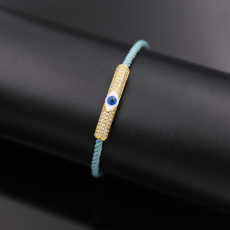 Handmade Woven Cotton Cord Evil Eye Bracelet Jewelry