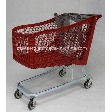 Einkaufswagen aus Kunststoff mit Kindersitz
