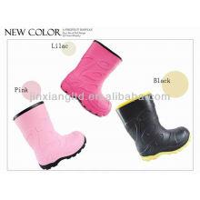 kids pink rain boots JX-916