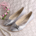Purple Bridal Shoes Flats cerrado dedo del pie