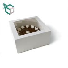Extra Link OEM cardboard paper gift cake box packaging with clear pvc window