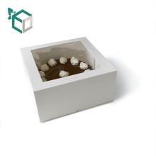 Дополнительная ссылка картона OEM подарка бумаги коробки торта упаковывая с ясным окном PVC