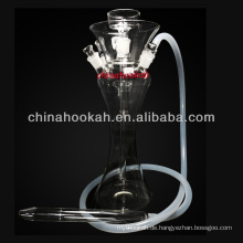 Neues Design Glas Wasserpfeife Shisha / Nargile / Wasser Rohr / hubbly Sprudeln mit guter Qualität CH8005