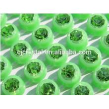 Venta al por mayor cristalina del rhinestone, ajuste plástico del Rhinestone del AB