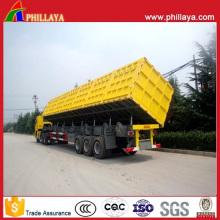Despeje o caminhão basculante lateral do reboque semi com os cilindros hidráulicos inferiores de 4-6PCS