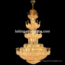 Large Big Hotel Crystal Stairs Pendant Hanging Chandelier Lamp Lighting