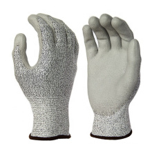 Anti Cut Level 5 13G HPPE Liner PU Coated Anti-Cut Level 5 Safety Work Gloves Cut Resistant
