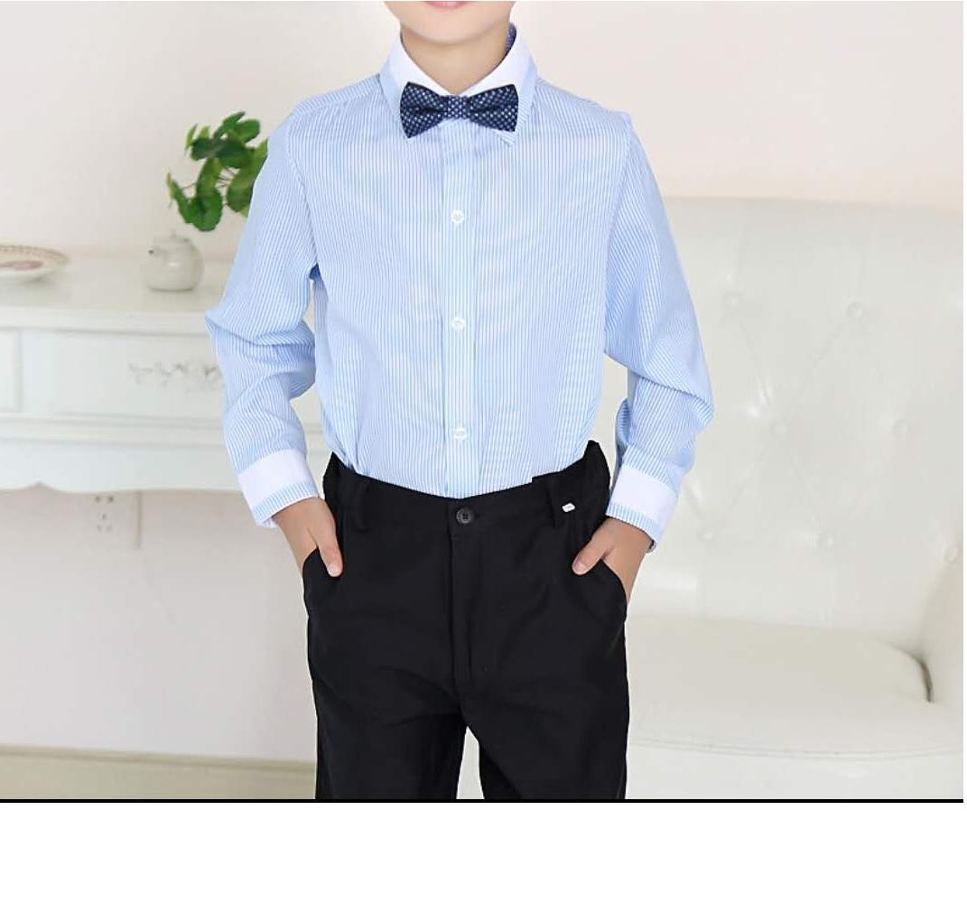 Boys blue stripe uniform