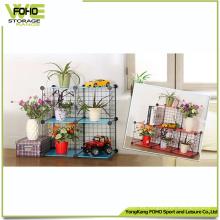 Wire Storage Cube Wholesale Metal Estante de metal con flores