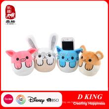 Plush Phone Holder Felpa Bunny Animals Cat Stuffed Toy